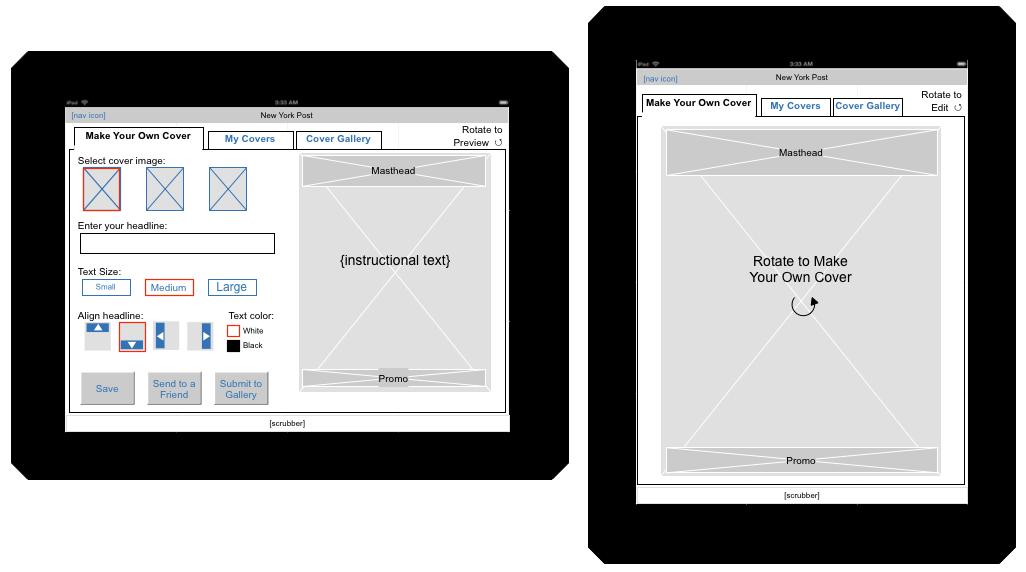 wireframe design live - Ipad App Wireframe